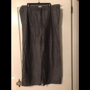 Linen/cotton slacks